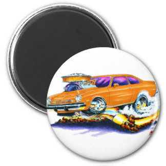 Chevy Vega Orange Car 2 Inch Round Magnet