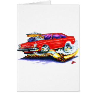 Chevy Vega Red Car Card