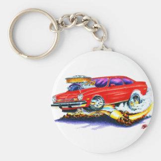 Chevy Vega Red Car Keychain