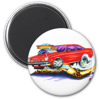 Chevy Vega Red Car 2 Inch Round Magnet