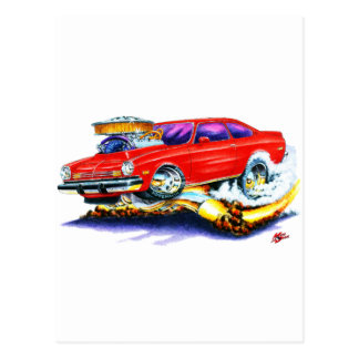 Chevy Vega Red Car Postcard