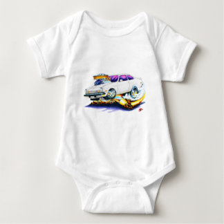 Chevy Vega White Car Baby Bodysuit
