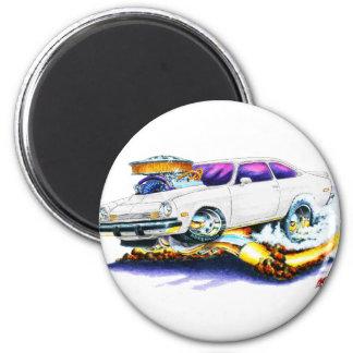Chevy Vega White Car 2 Inch Round Magnet
