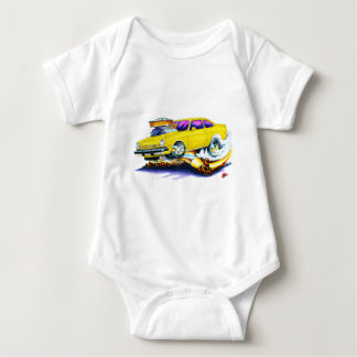Chevy Vega Yellow Car Baby Bodysuit