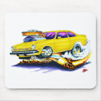 Chevy Vega Yellow Car Mouse Pad