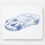 Chevy Vette 2009 ZR1 Mousepad
