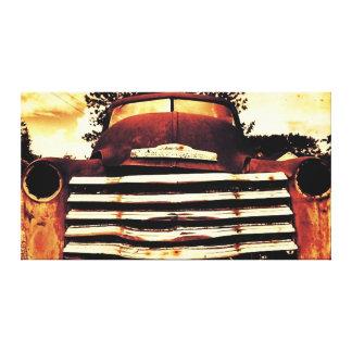 Chevy viejo que cultiva el camión impresión en lienzo estirada