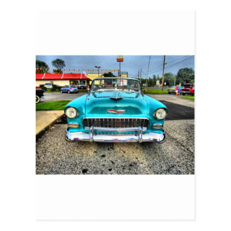 Chevy viejo tarjeta postal