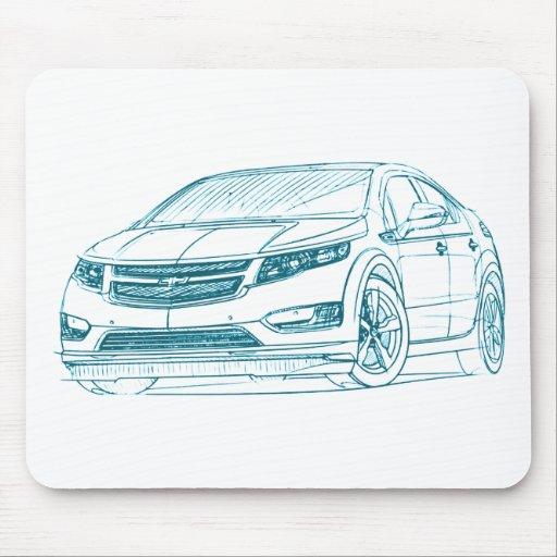 Chevy Volt 2011 Mouse Pad