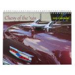Chevys de los años 50 calendario de pared