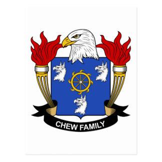 Chew Family Crest Postcard