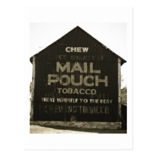 Chew Mail Pouch Tobacco - Antique Photo Finish Postcard