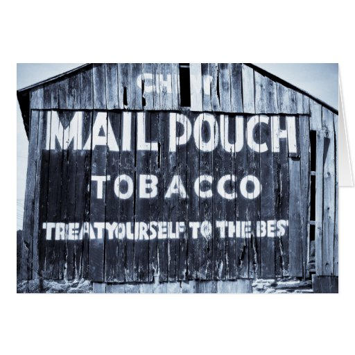 Chew Mail Pouch Tobacco Barn Card