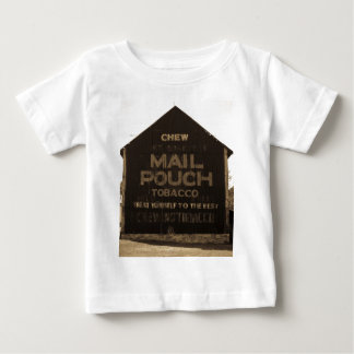 Chew Mail Pouch Tobacco Barn - Sepia Finish Baby T-Shirt