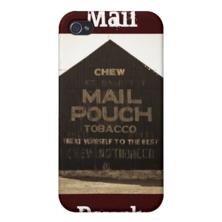 Chew Mail Pouch Tobacco Barn - Sepia Finish Cover For iPhone 4