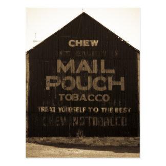 Chew Mail Pouch Tobacco Barn - Sepia Finish Postcard