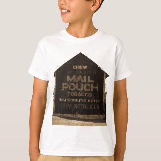 Chew Mail Pouch Tobacco Barn Sepia Finish T-Shirt
