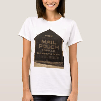 Chew Mail Pouch Tobacco Barn - Sepia Finish T-Shirt