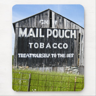 Chew Mail Pouch Tobacco Barn Vintage Mouse Pad