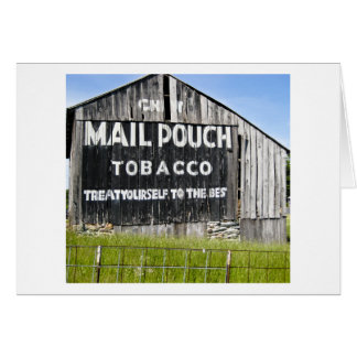 Chew Mail Pouch Tobacco, Old Barn Card