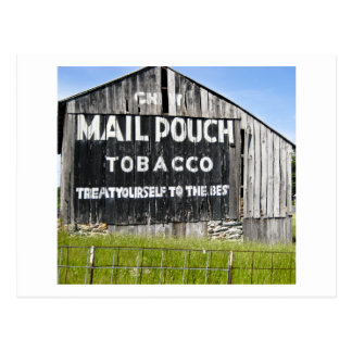 Chew Mail Pouch Tobacco, Old Barn Postcard