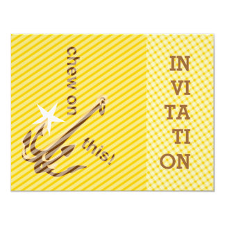 Chew on this Hook invitation