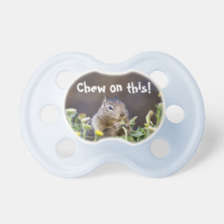 Chew on this pacifier