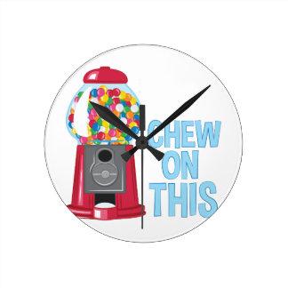 Chew On This Round Clock