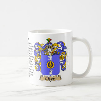 Chew, the Origin, the Meaning and the Crest Coffee Mug