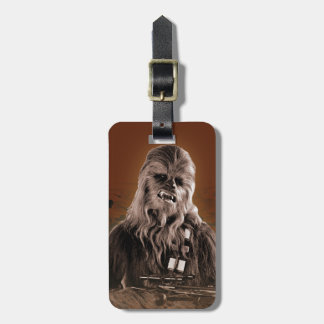 Chewbacca Graphic Luggage Tag