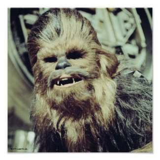 Chewbacca Photograph Poster