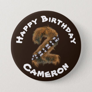 Chewbacca Second Birthday Number Button