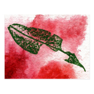 """Chewed Cherry Leaf #1"" Country Roads Postcard"
