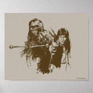 Chewbacca Chewie Silk Poster Print 13x20 20x30 inch Wall Decoration Wookiee