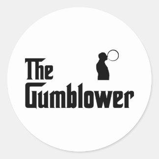 Chewing Gum Classic Round Sticker