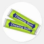 Chewing Gum Round Stickers