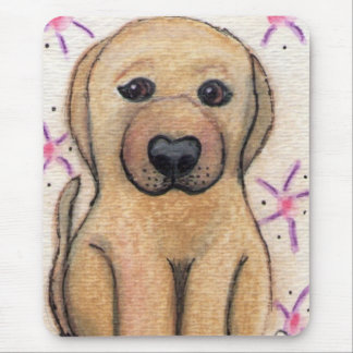 Chewy Baby Yellow Lab Puppy Dog Mousepad