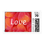 Chewy Hearts LOVE Postage Stamps