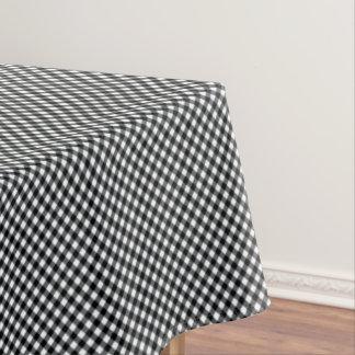 CHEX 12 BLACK WHITE COTTON TABLECLOTH 52x70in