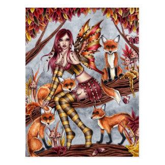 Cheyanna - postal de la hada del otoño