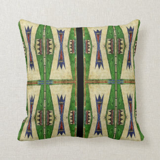 Cheyenne 1860's parfleche design throw pillow