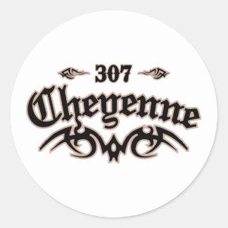 Cheyenne 307 classic round sticker