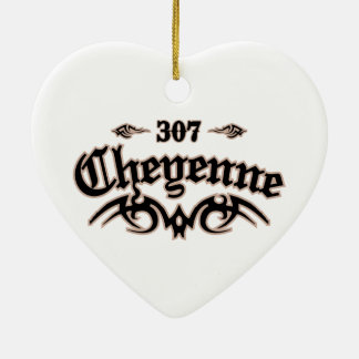 Cheyenne 307 Double-Sided heart ceramic christmas ornament