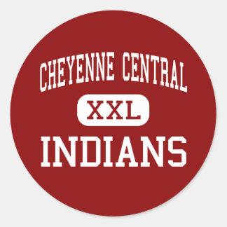 Cheyenne Central - Indians - High - Cheyenne Classic Round Sticker