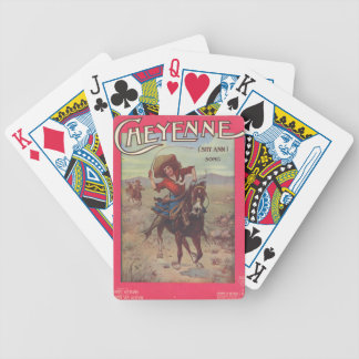 Cheyenne Cowgirl 1909 Ad Game Playing Cards