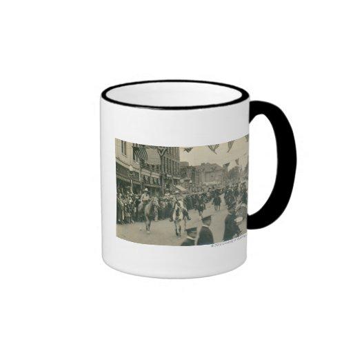 Cheyenne Frontier Days parade. Ringer Coffee Mug