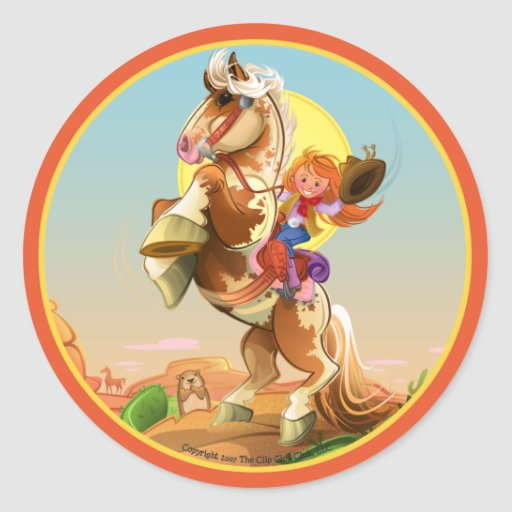Cheyenne & Hoss Classic Round Sticker