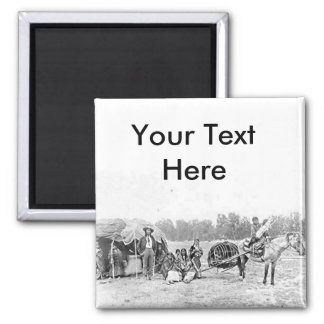 Cheyenne Indian Family Vintage Photograph Refrigerator Magnets