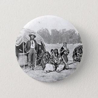 Cheyenne Indian Family Vintage Photograph Pinback Button