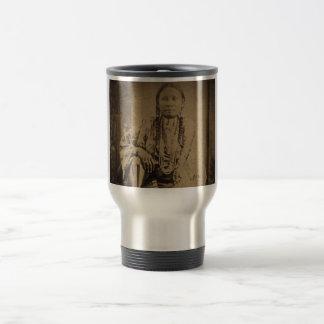 Cheyenne Indian Scout Nettie Bear Coffee Mugs